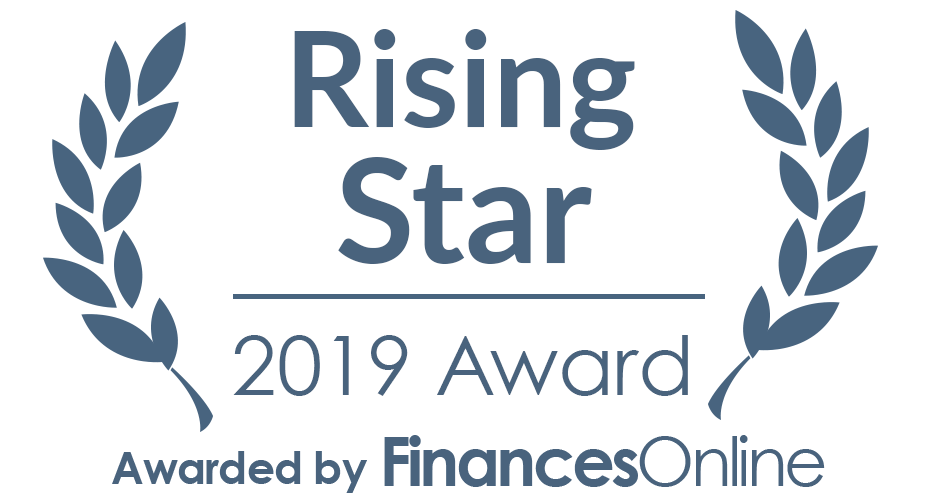 Rising Star award by FinancesOnline